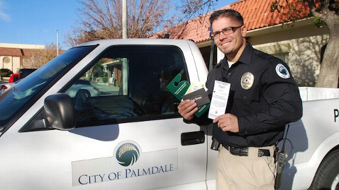 ht palmdale ca good parking ticket mcclanahan lpl 121212 wblog Palmdale, Calif., Cites Motorists for Good Parking