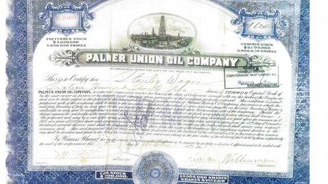 ht palmer union oil stock certificate thg 120406 wblog Treasure Hunter Tony Marohns Family Pursues $130M Stock Claim Against Coca Cola