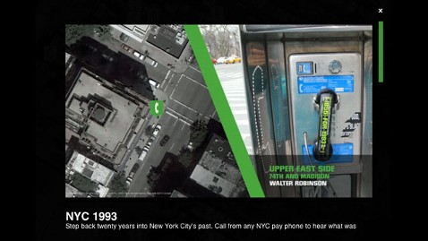 NYC Pay Phones Changed into Time Machines
