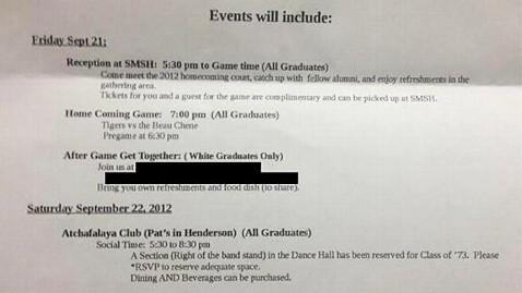 ht segregated reunion ll 120831 wblog Class Reunion Letter Lists White Graduates Only Party