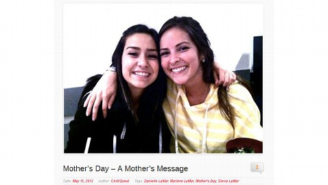 ht sierra lamar mothers day message pagegrab2 jt 120513 wblog Missing CA Girl Sierra LaMars Mom Sends Her a Mothers Day Message