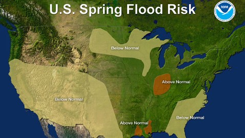 Heat Wave Sweeps US; NOAA Says Spring Flood Risk Low - ABC News