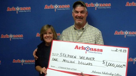 ht stephen terri weaver jef 130205 wblog Arkansas Couple Wins Lottery Twice in One Weekend