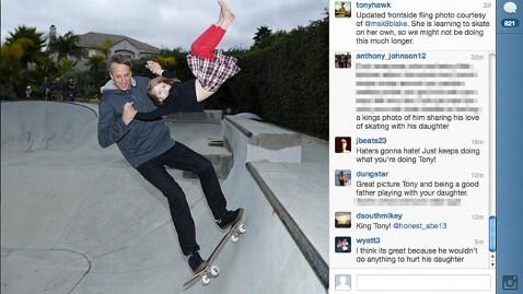 ht tony hawk daughter tk 121219 wblog Tony Hawks Instagram Photo Raises Safety Questions