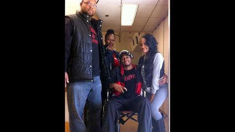 ht ware wheelchair mi 130402 wblog Louisvilles Kevin Ware Released from Hospital