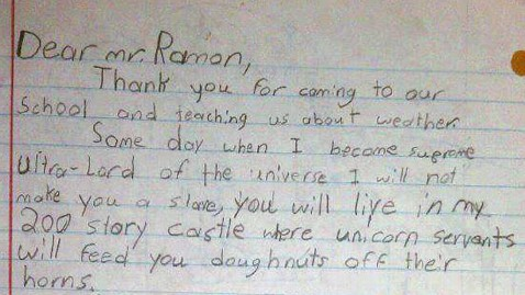 ht weatherman letter jp 120316 wblog Student Says Thank You With Cyborg Unicorn