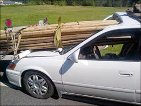 ht woman survives accident 1 ll 120710 wblog Teepee Poles Impale Car Windshield as Driver Survives