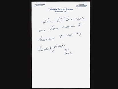 "In the same letter, he writes at the end: ""Is there any chance you will be coming to the U.S.?"""