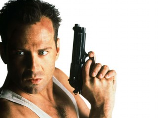 "PHOTO: Bruce Willis in ""Die Hard"" used a glock."