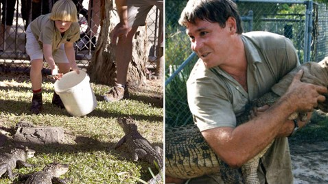 sp bob steve irwin tk 120411 wblog Crocodile Hunter Steve Irwins Son Feeds Alligators