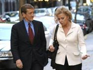 Brian Ross with Mary Mapes