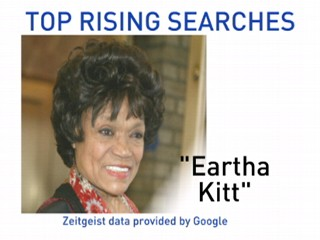 VIDEO: Eartha Kitt leads Google search.