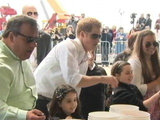 VIDEO: Prince Harry, Chris Christie Visit Hurricane Sandy Communities